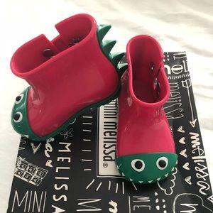 NIB Mini Melissa Sugar Rain Boot size 5C